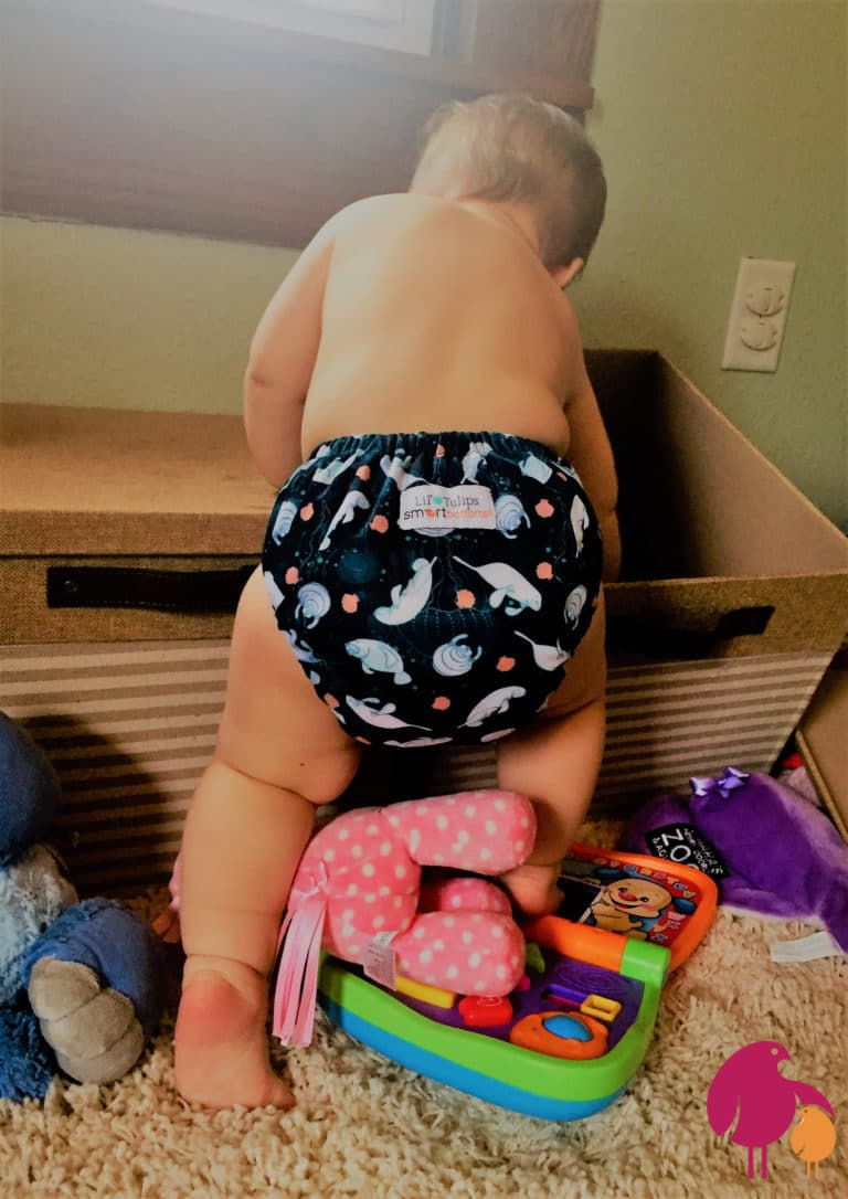 Baby Jade in a cloth diaper