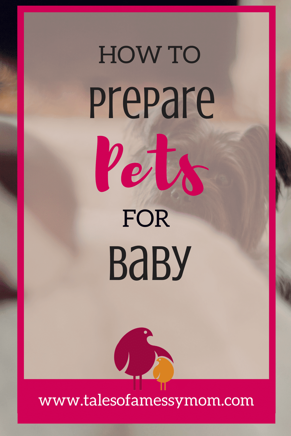 Create a safe and happy environment for the whole family by preparing your pets for baby. Here is how we prepared our dogs and cats. http://talesofamessymom.com