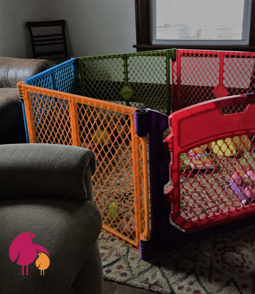 Colorful Baby Play Pen in Living Room