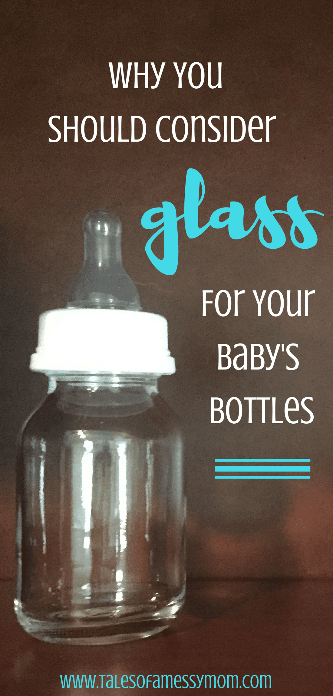Here are 7 amazing benefits that will make you want to choose glass for your baby's bottles. http://talesofamessymom.com